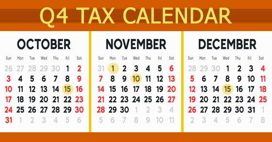 2021 Q4 tax calendar deadlines